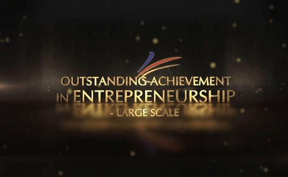 agora outstanding achievement in entrepreneurship large scale