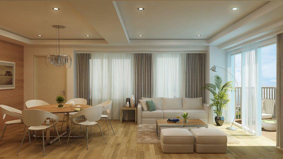 Bristol 1BR Living Room