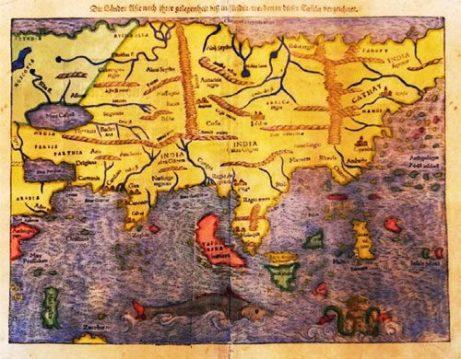 Münster 1544 Die Lander Asie nach