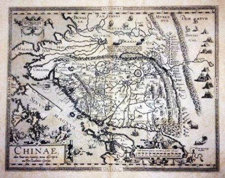 Ortelius 1590 Chinae 2nd state