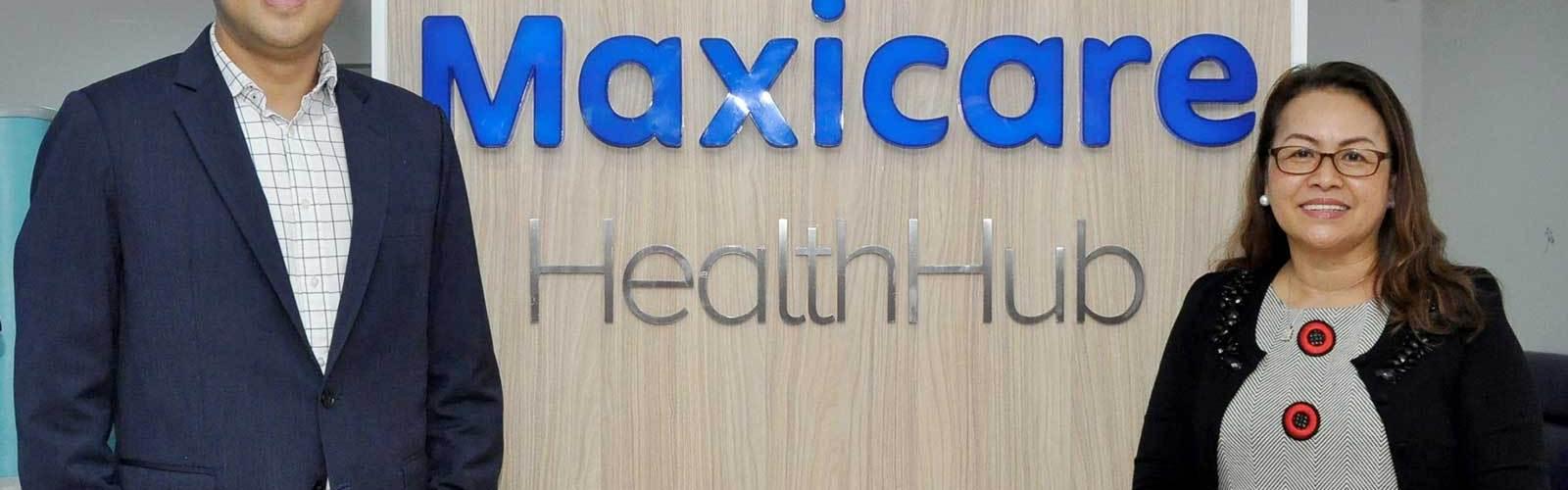 Maxicare president & CEO Christian Argos and Manila Doctors Hospital president Elizabeth Dantes
