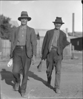Reg Cattach and Tom McAlinden Yalgoo 1929 049948PD