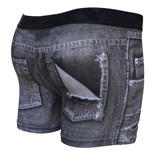 black denim trunks