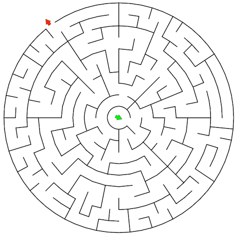 Solving mazes with the watershed transform » Steve on