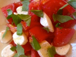 Tomato Salad with Honey Drizzle