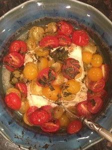 Baked Feta with Cherry Tomatoes