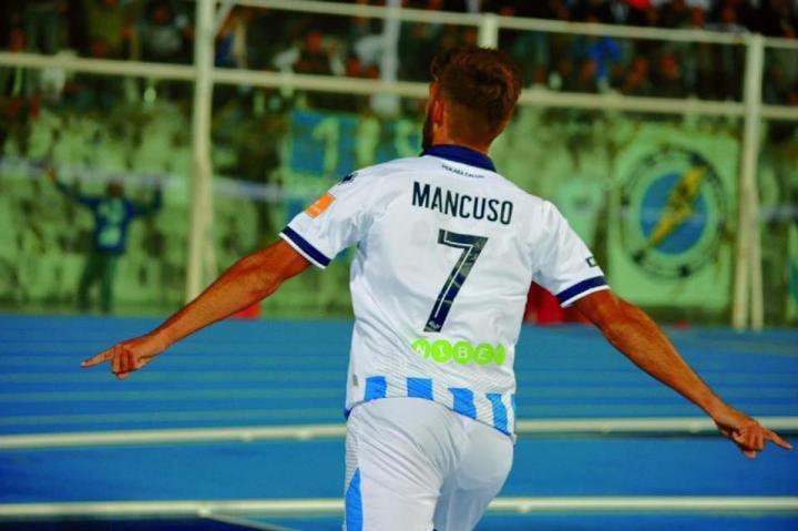 Mancuso esulta per un gol   Numerosette Magazine