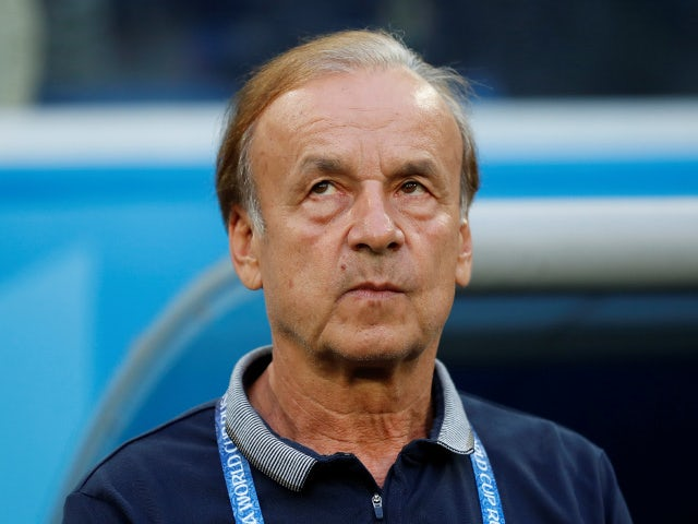 Nigeria coach Gernot Rohr before the match against Argentina on June 26, 2018