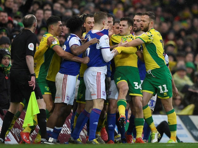 Result Norwich See Off Ipswich In Feisty Derby To Reclaim