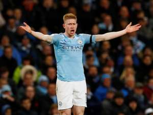 Kevin De Bruyne in action for Manchester City on April 3, 2019