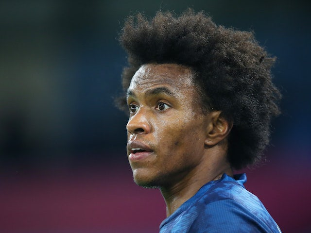 Arsenal winger Willian pictured on October 21, 2020