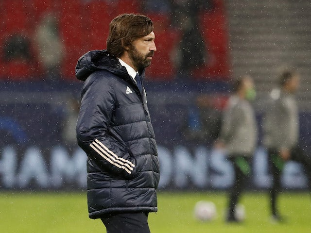 Juventus manager Andrea Pirlo pictured on November 4, 2020