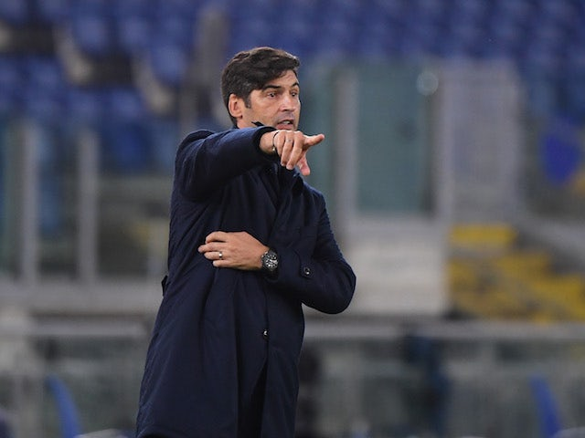 Roma head coach Paulo Fonseca pictured in October 2020