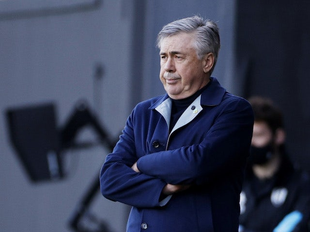 Everton manager Carlo Ancelotti pictured on November22, 2020