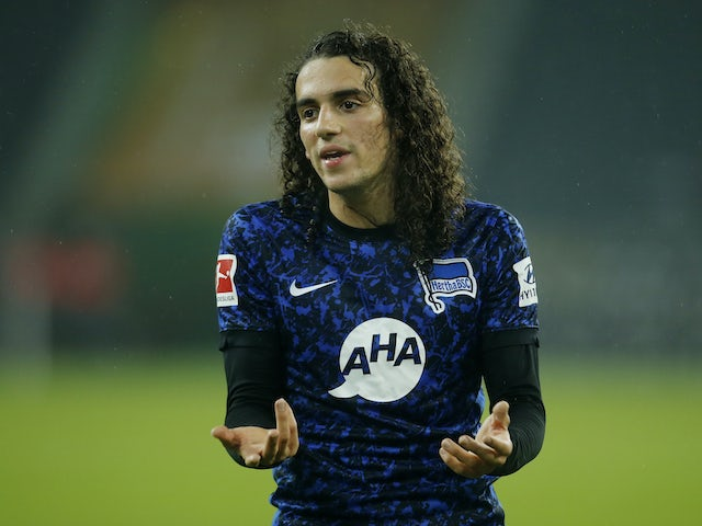 Matteo Guendouzi in action for Hertha Berlin on December 12, 2020