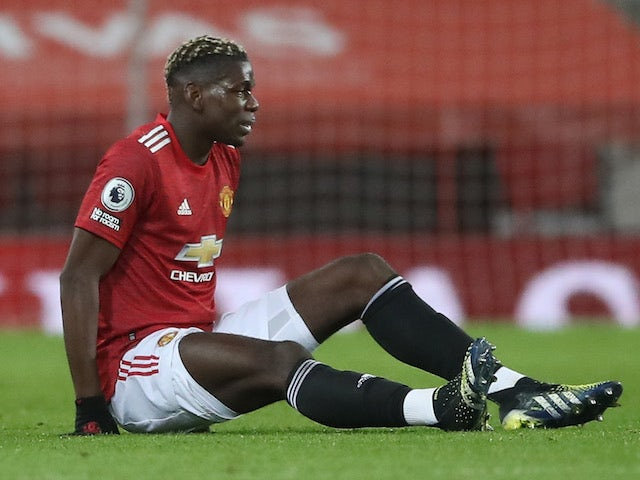 Manchester United midfielder Paul Pogba pictured on February 6, 2021