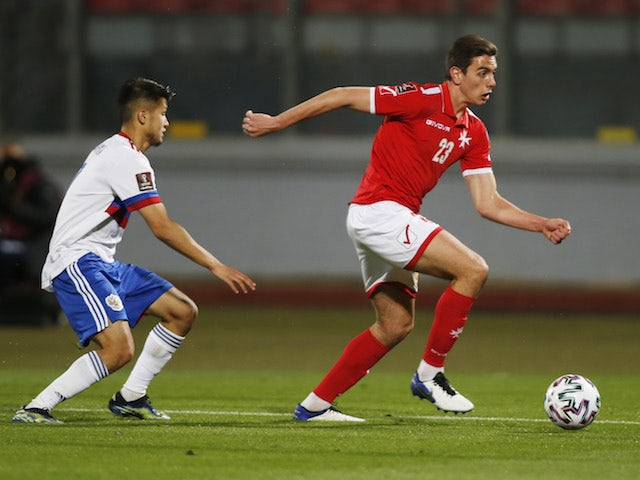 Malta's Alexander Satariano in action against Russia on March 24, 2021