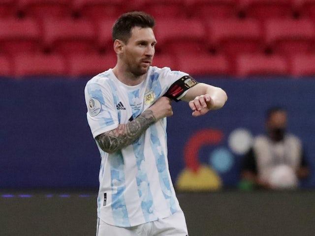 Argentina captain Lionel Messi pictured on June 19, 2021