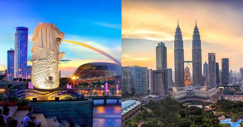 Singapore and Malaysia landmarks
