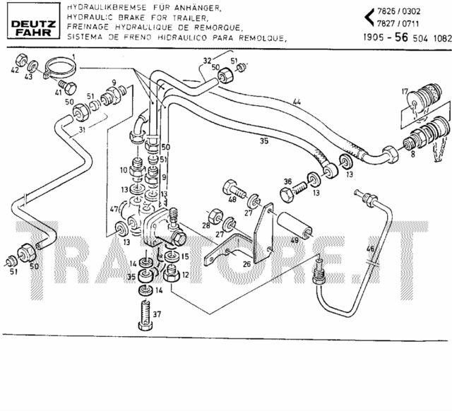 Valve de freinage sur tracteur Deutz DX 85