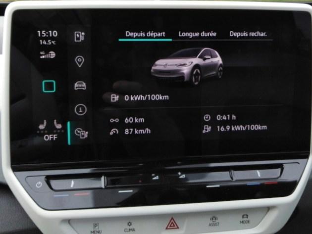 VW ID.3 premier bilan consommation