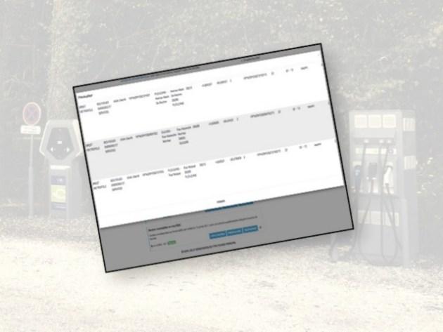 Capture d'écran du fichier de l'ETALAB
