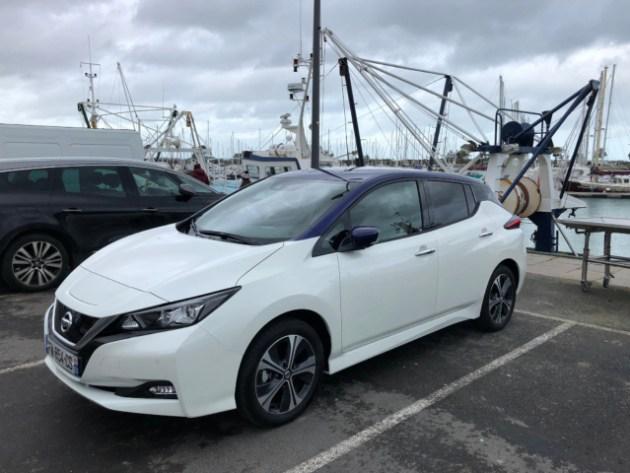 Nissan Leaf 62 kWh à Saint-Vaast-la-Hougue
