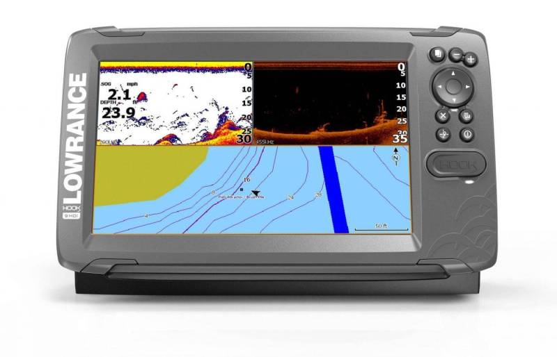 Lowrance HOOK2-9 SplitShot HDI product front facing renders 8-17_20799