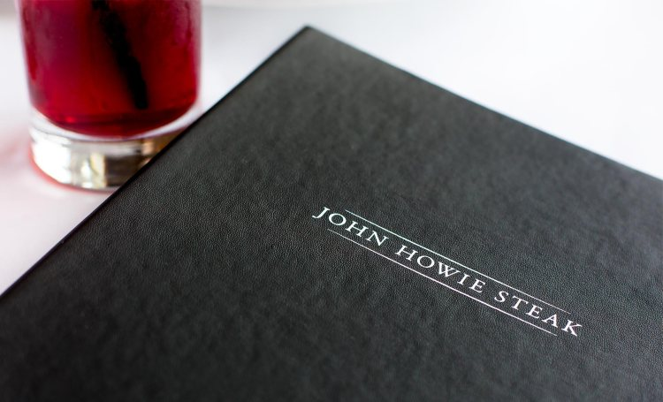 John Howie Steak Menu