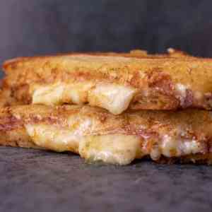 Three Cheese Grilled Cheese Sandwiches
