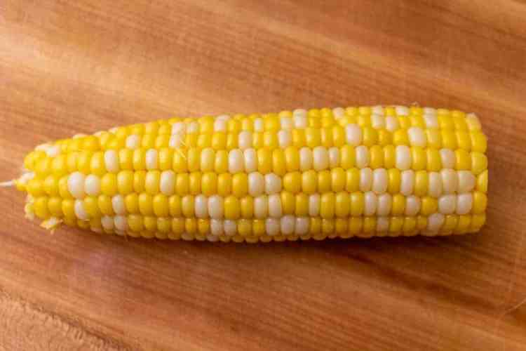One piece of corn on the cob