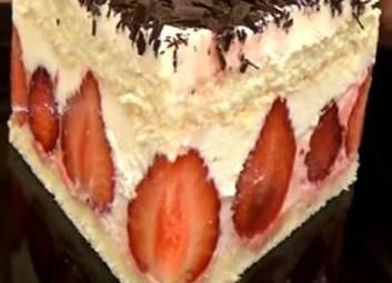 Торт Фрезье с клубникой (Fraisier, Frese with strawberries)