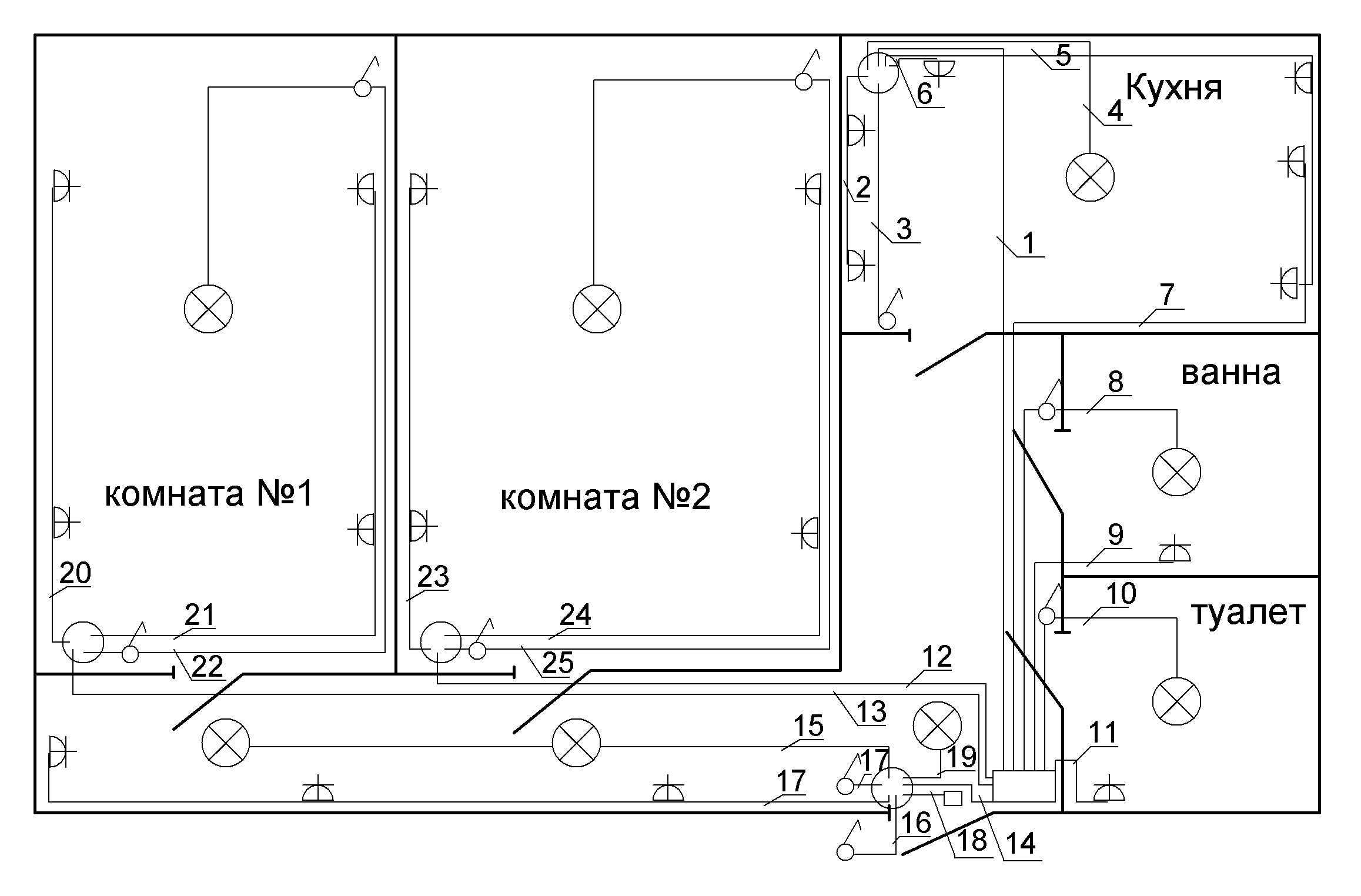 bedroom wiring diagram stratocaster pickup Как сделать электропроводку в доме  советы электрика