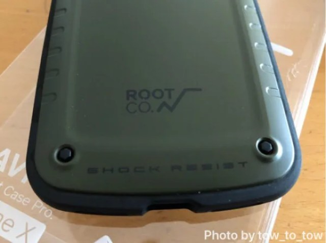 ROOT CO.iPhoneX GRAVITY Shock Resist Case Pro.背面