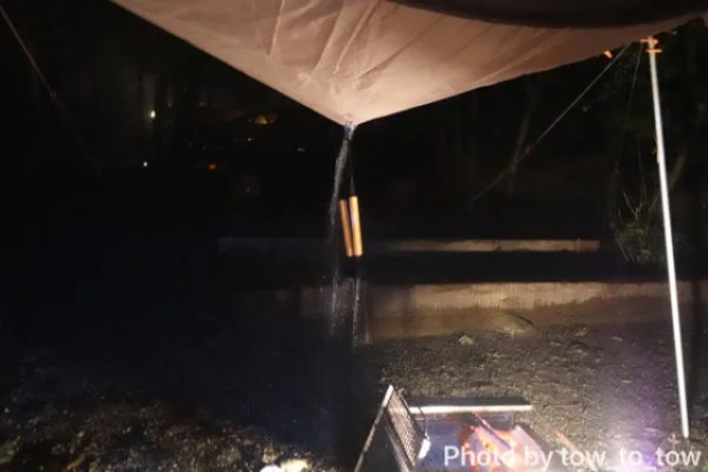 赤城山オートキャンプ場 グリーンエリア ロングサイト 豪雨