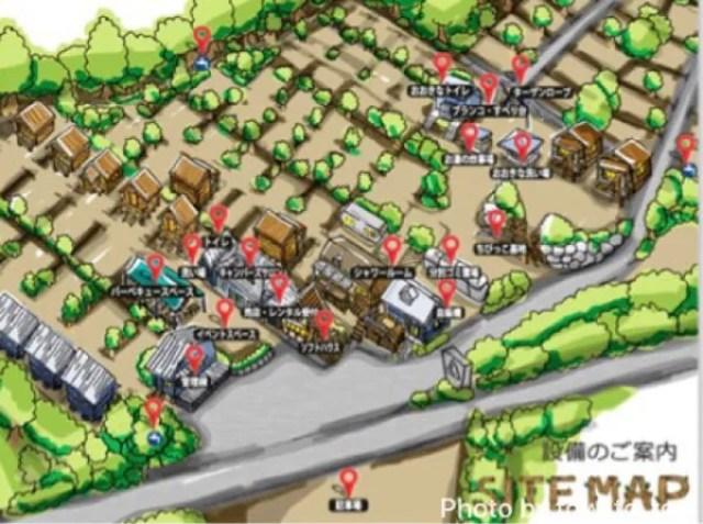 赤城山オートキャンプ場 場内設備マップ