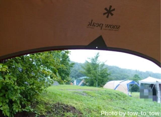 上毛高原キャンプグランド 豪雨