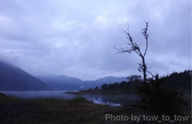 精進湖夜明け