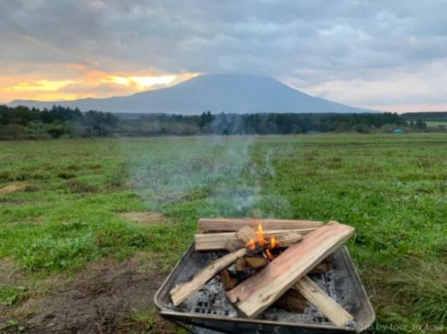 ふもとっぱら ソロキャンプ  富士山 焚き火