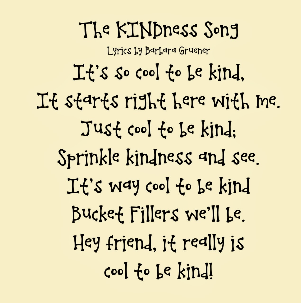 The Kindness Song A Small Act Of Kindness Can Bring