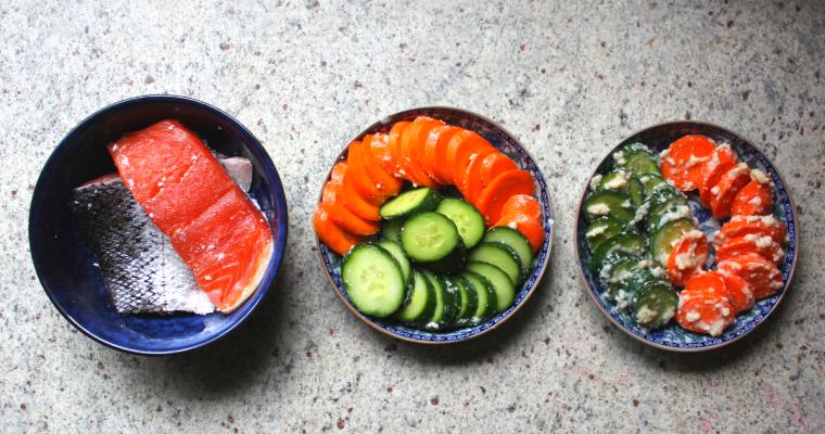 homebrewed sake: kasuzuke (sake lees pickle)
