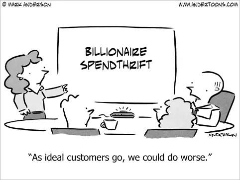 spendthrift cartoon