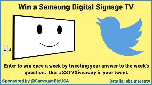 Samsung Digital Signage TV giveaway