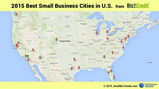 best cities for small business 2015