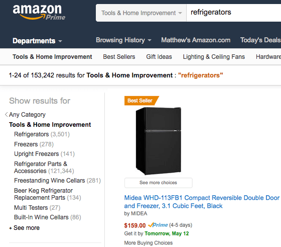 amazon Category Search