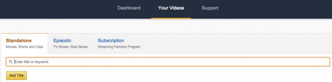 Amazon Video Direct dashboard