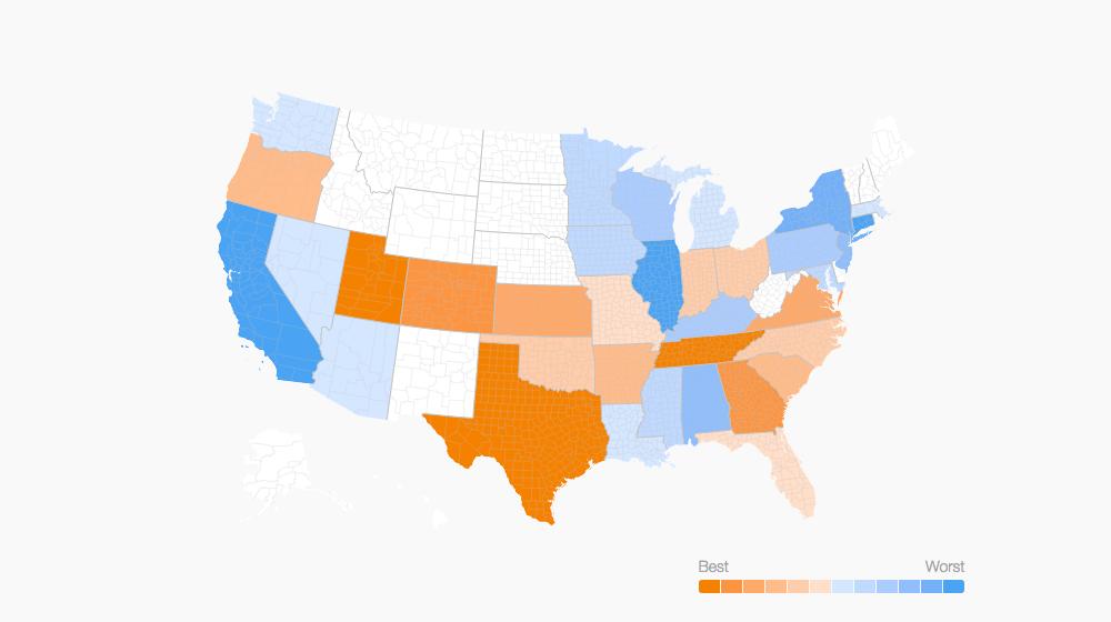 Texas, Utah Rank High as Small Business Friendly States, Survey Says