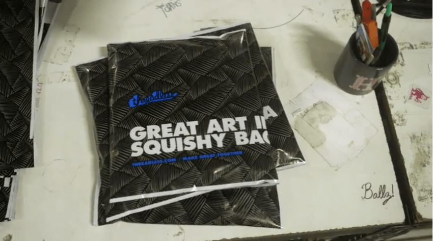business agility and art in a squishy bag