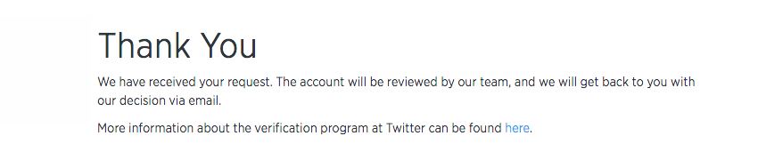 Verified Twitter Account Application Process - Step 6