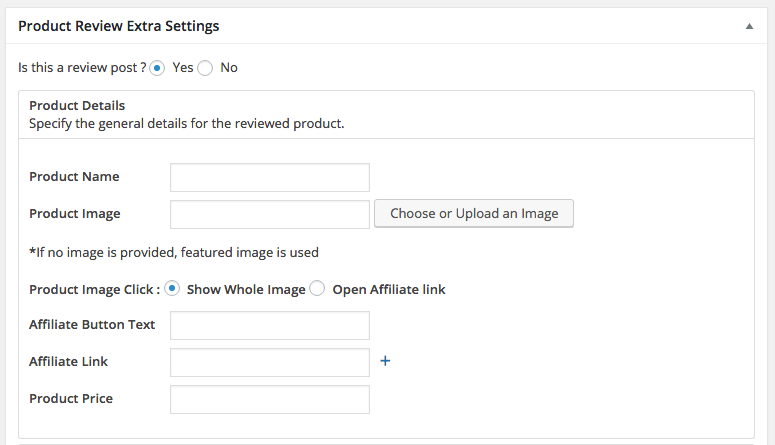 How to Write a Product Review - WordPress Product Review Plugin Extra Settings